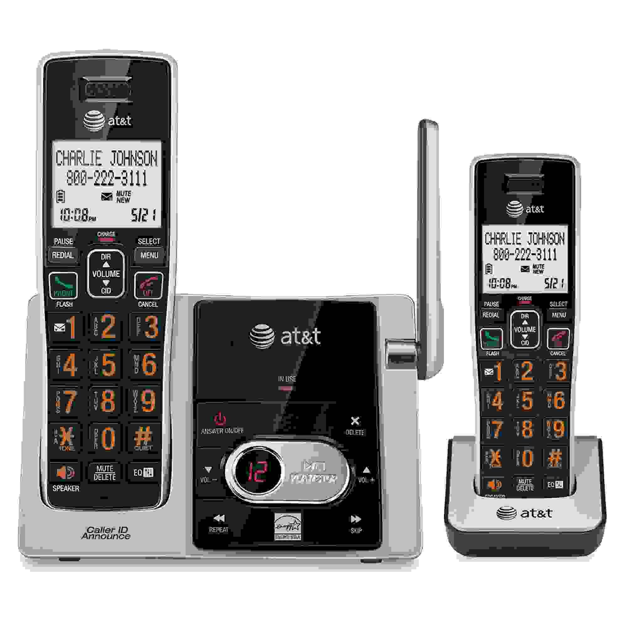 AT&T 2 HANDSET CORDLESS CAL-ID ANSWERING