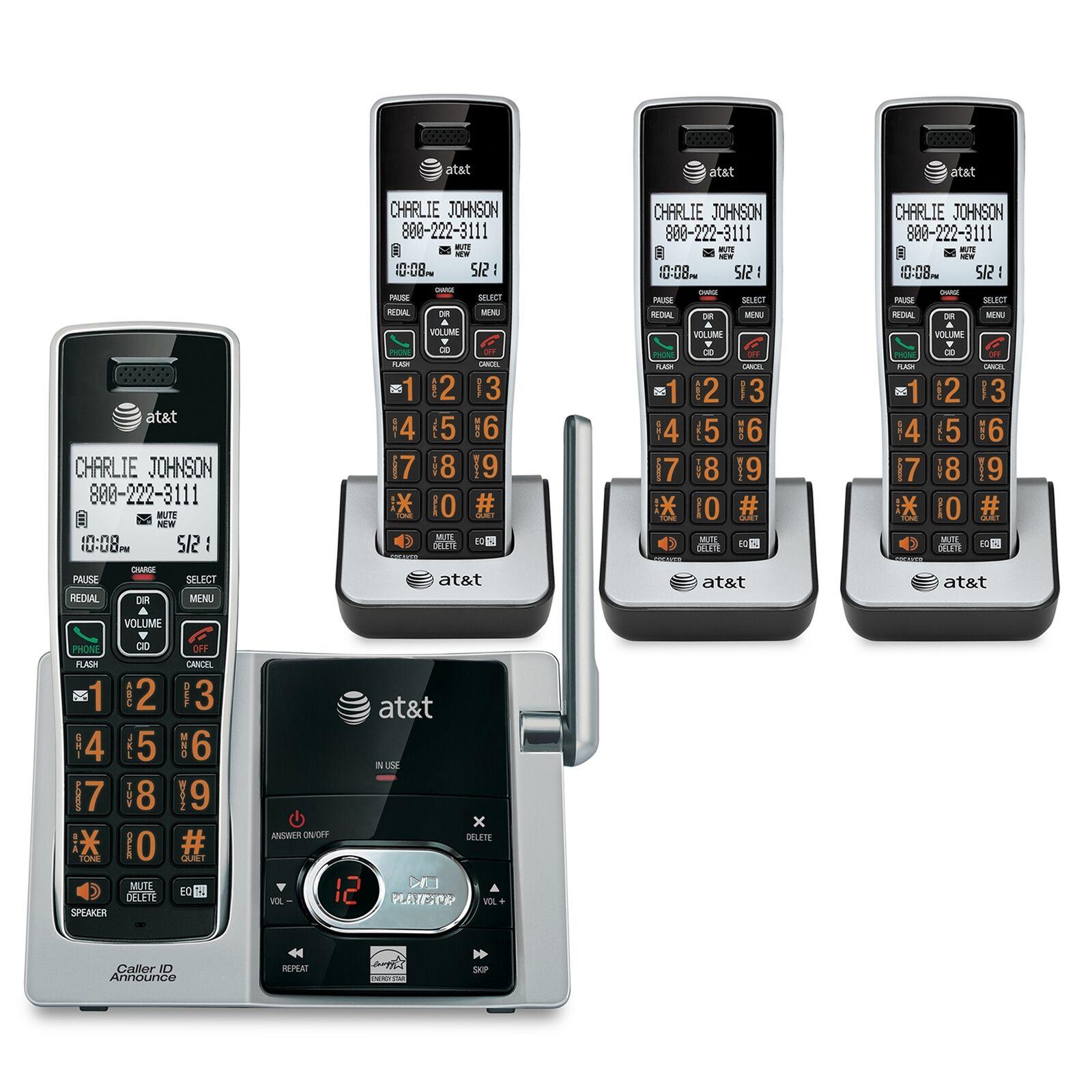 AT&T 4 HANDSET CORDLESS CAL-ID ANSWERING