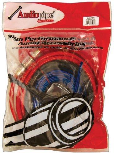 Amp wiring kit Audiopipe 4GA up to 2100watts * BMS2100 *poly bag*