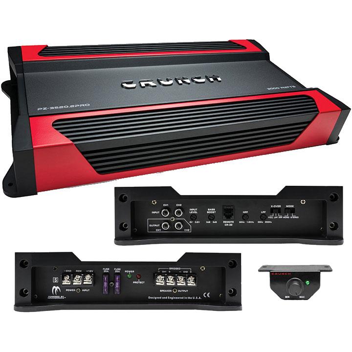 Crunch 2 Channel Amplifier 3000 Watts
