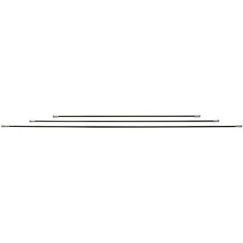 "16072 - Professional-Duty Fiberglass Chimney Cleaning Rod, 6', Black, 3/8"" Npt"