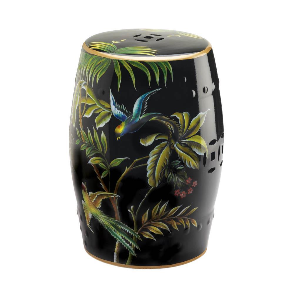 Tropical Birds Decorative Stool