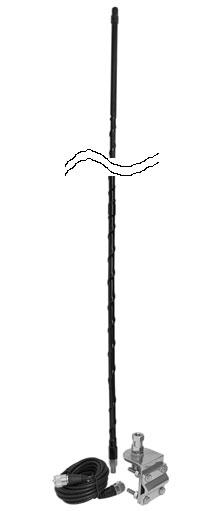 2' SINGLE MIRROR MT KIT W/9' COAX (WHITE)
