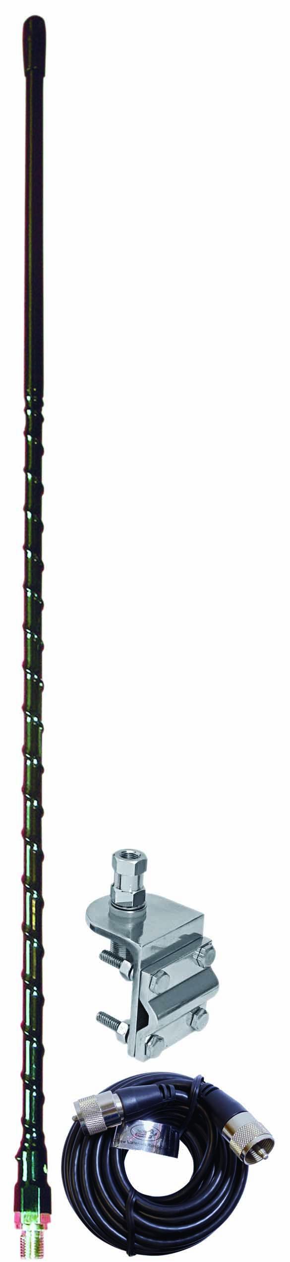 3' SINGLE MIRROR MT KIT W/9' COAX(BLACK)