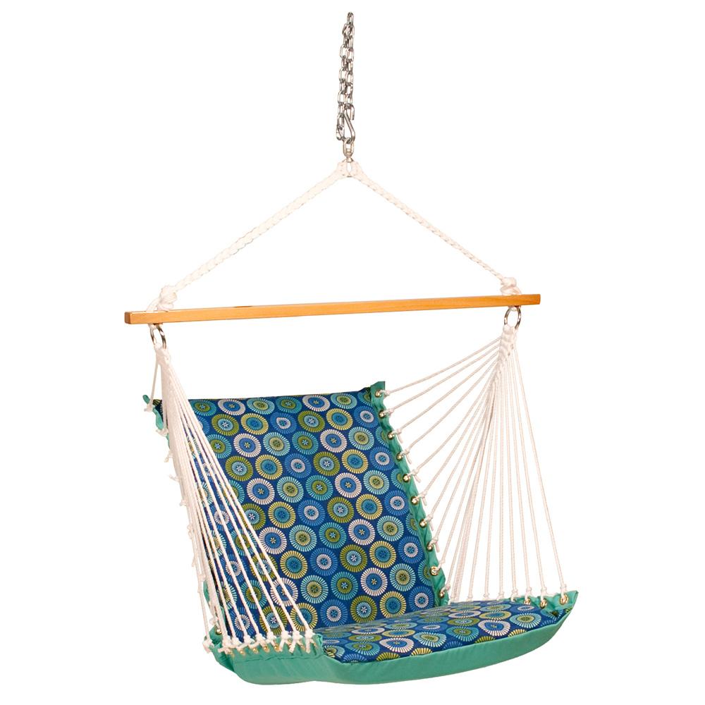Deluxe Soft Comfort Hanging Chair - Jax Lagoon/Lagoon Solid