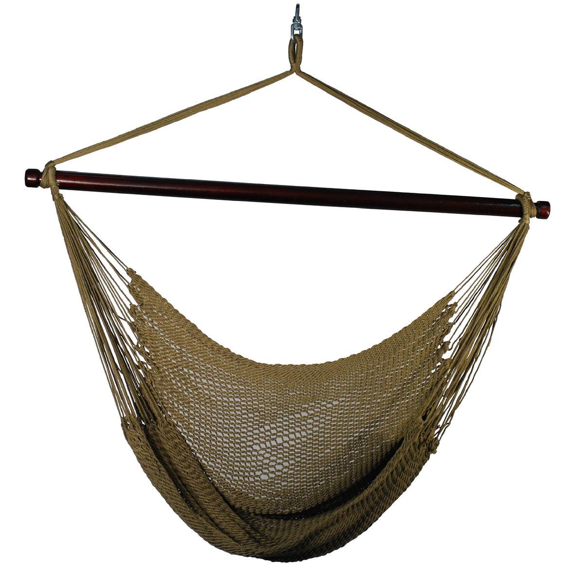 Hanging Caribbean Rope Chair - Tan