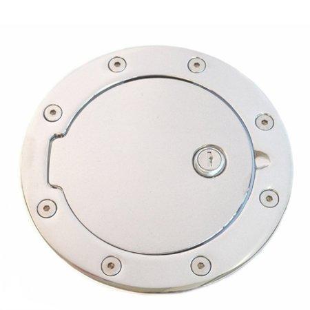 14-18 SILVERADO/SIERRA1500/15-18 GM 2500/3500 CHROME LOCKING FUEL DOOR-ONLY FITS 6.5/8FT BEDS