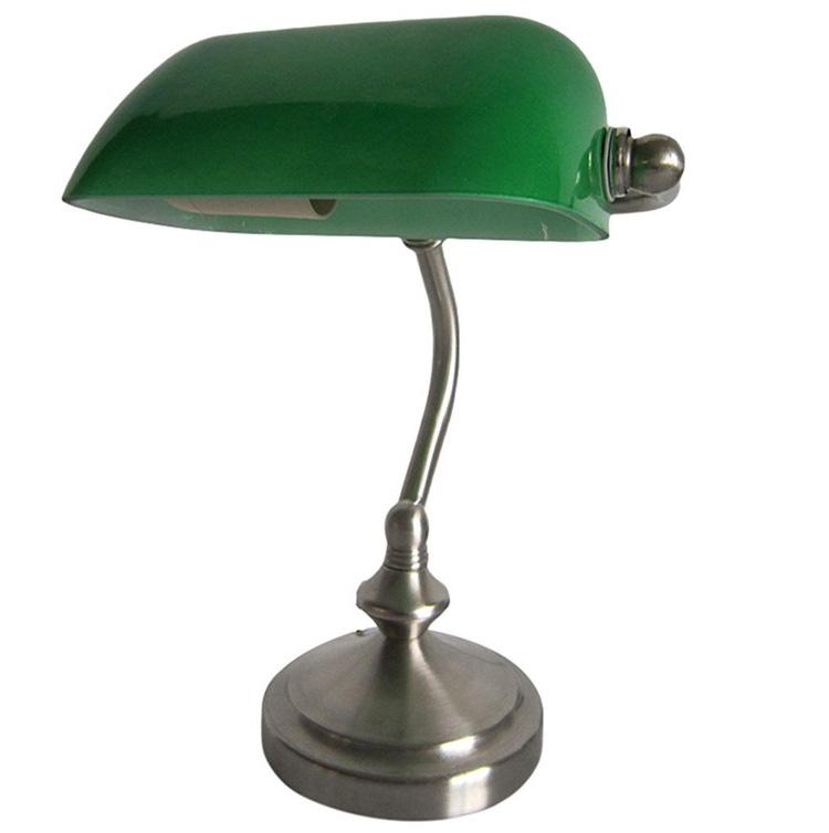 Simple Designs Bankers Lamp Green