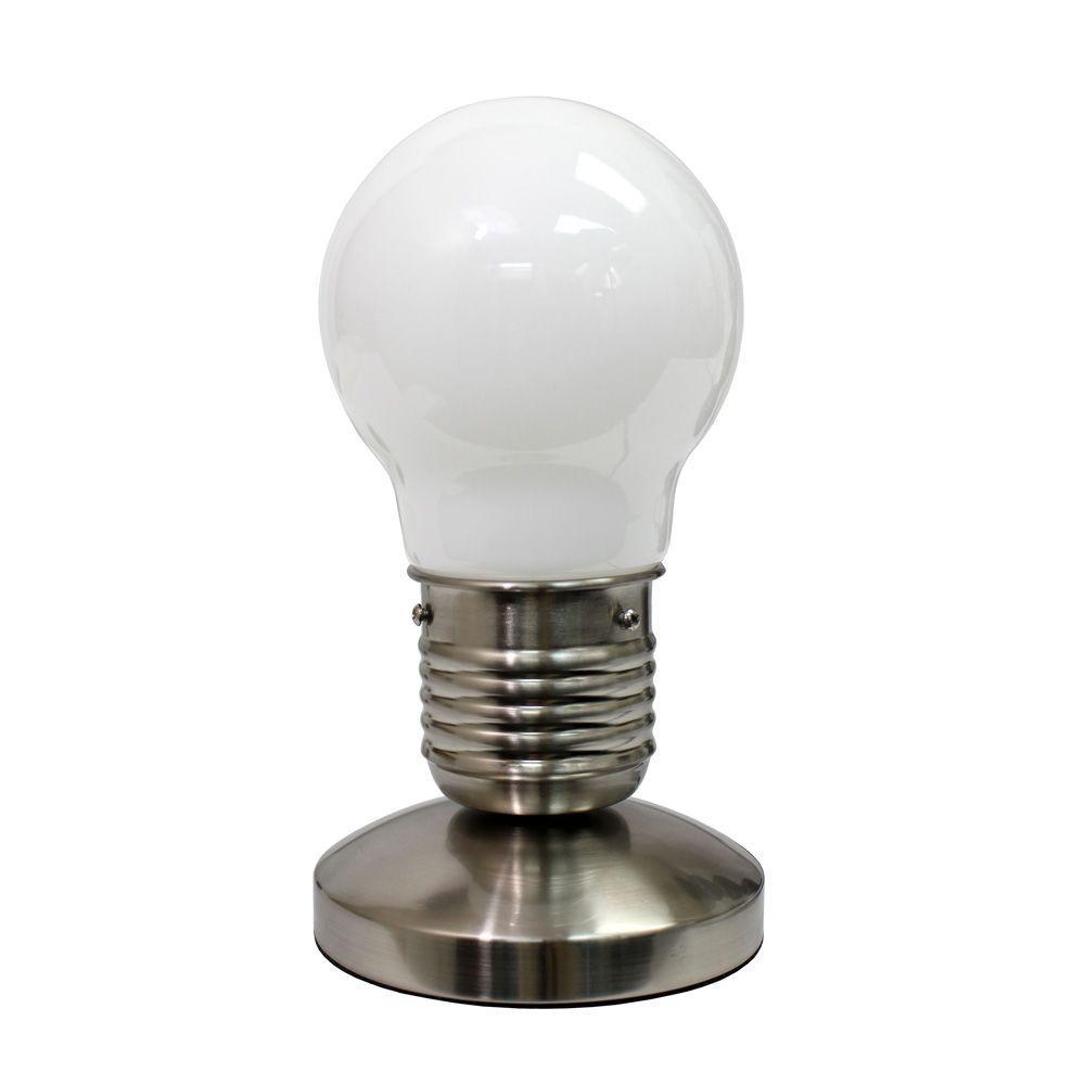 Simple Designs Edison Style Minimalist Idea Bulb Mini Touch Lamp
