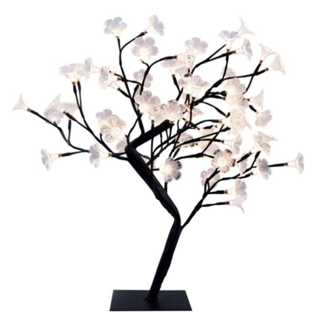 Simple Designs Large Black LED Lighted Decorative Cherry Tree