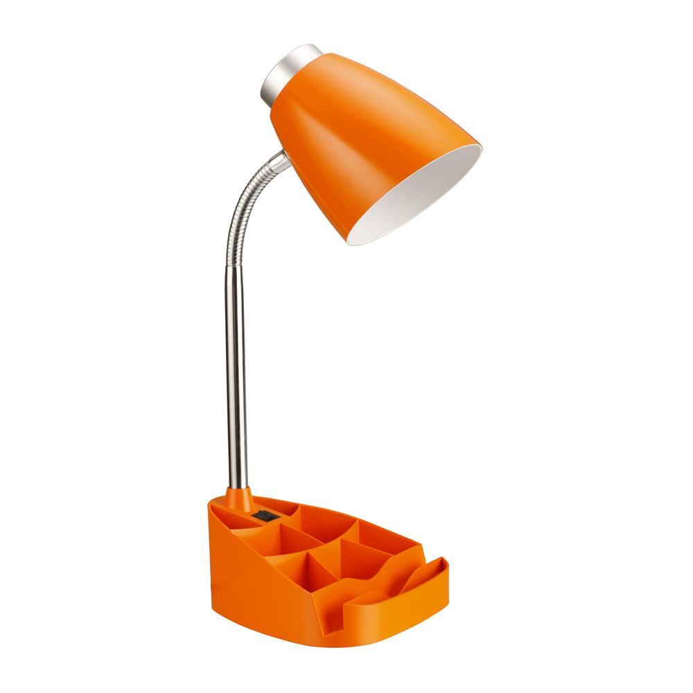 Limelights Gooseneck Organizer Desk Lamp with iPad Tablet Stand Book Holder