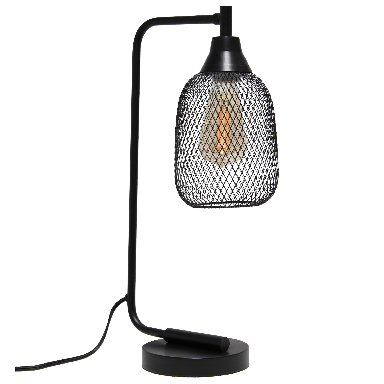 Lalia Home Industrial Mesh Desk Lamp, Matte Black