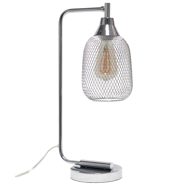 Lalia Home Industrial Mesh Desk Lamp, Chrome