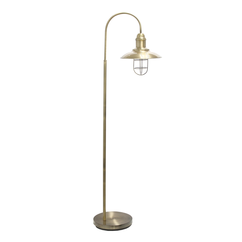 Lalia Home Modern Farmhouse 1 Light Floor Lamp, Antique Brass