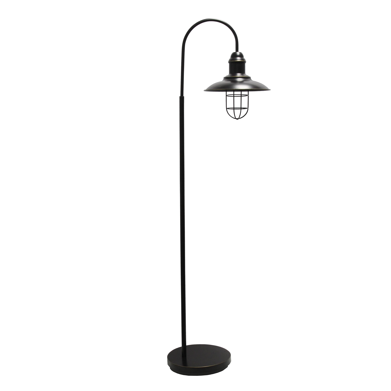 Lalia Home Modern Farmhouse 1 Light Floor Lamp, Restoration Bronze