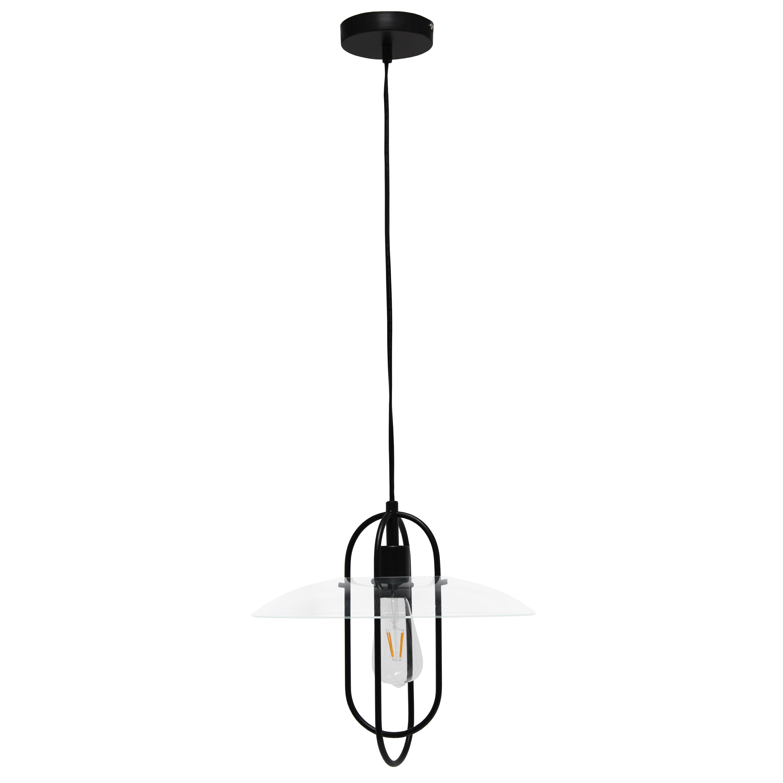 Lalia Home 1 Light Elongated Metal Pendant Light, Black