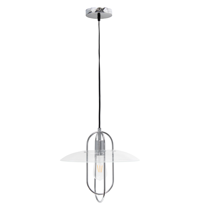 Lalia Home 1 Light Elongated Metal Pendant Light, Chrome