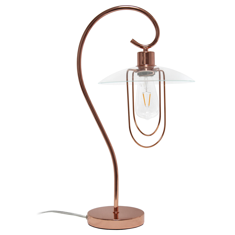 Lalia Home Modern Metal Scroll Table Lamp, Chrome