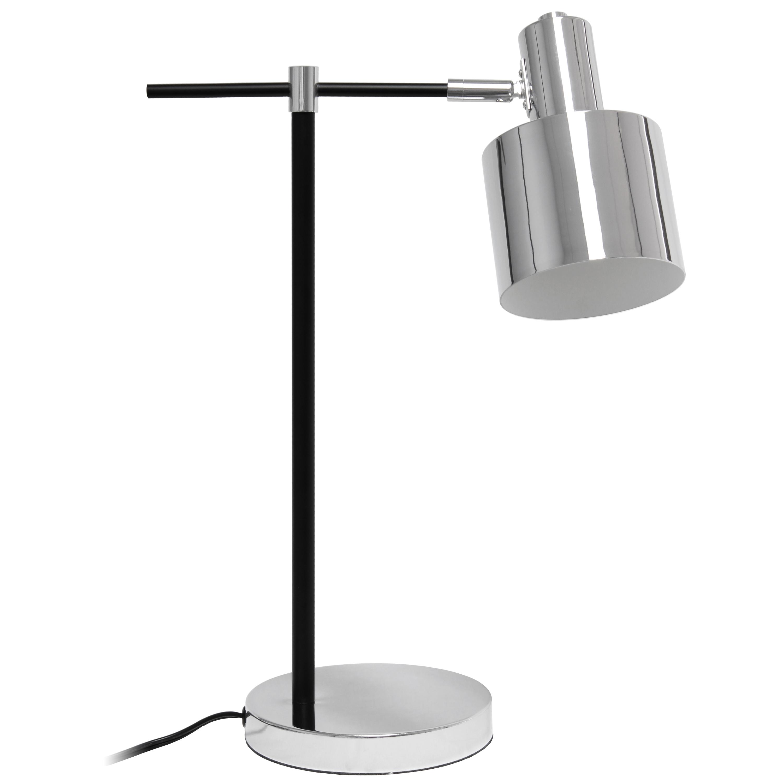 Lalia Home Mid Century Modern Metal Table Lamp, Chrome