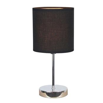 Simple Designs Chrome Mini Basic Table Lamp with Black Shade