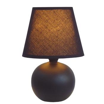 Simple Designs Black Ceramic Globe Table Lamp