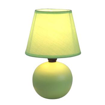 Simple Designs Green Ceramic Globe Table Lamp