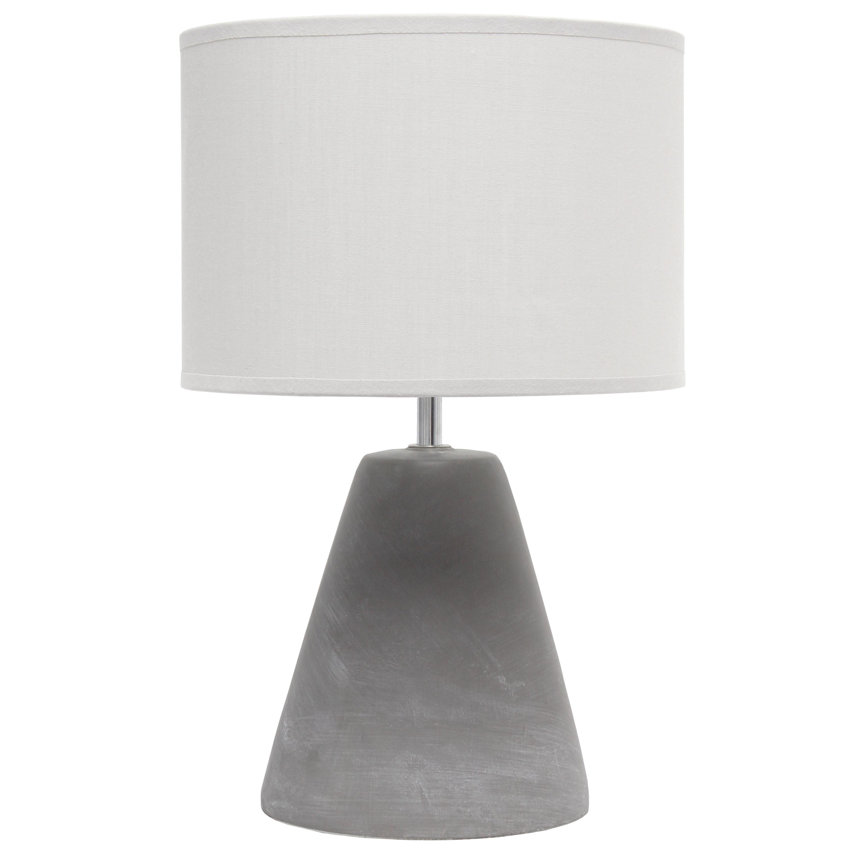 Simple Designs Pinnacle Concrete Table Lamp, Gray