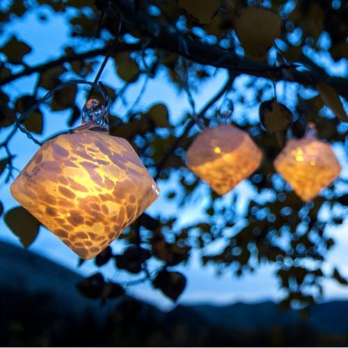 Aurora Glow Solar Glass String Lights