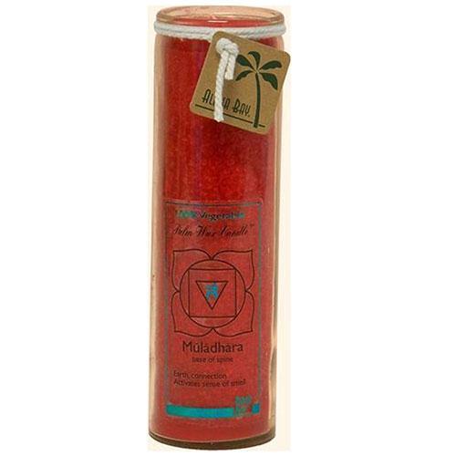 Aloha Bay Unscented Chakra Jar Money Muladhara Red (1 Candle)