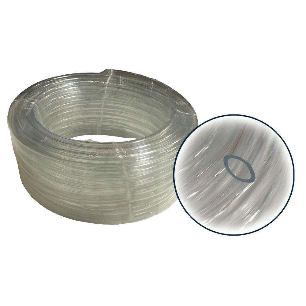 "1/2"" I.D. x 3/4"" Wall PVC Clear Tubing x 100' Coil"