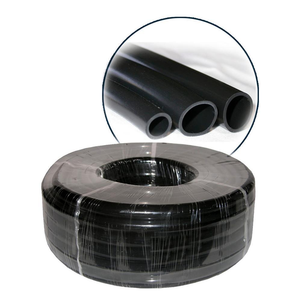 """3/4"""" I.D. x 1"""" O.D. x 1/8"""" Wall PVC Black Tubing x 100'Coil"""