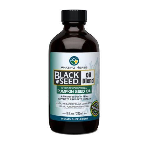 Amazing Herbs Black Seed Oil Blend Styrian Pumpkin Seed (1x8 Oz)