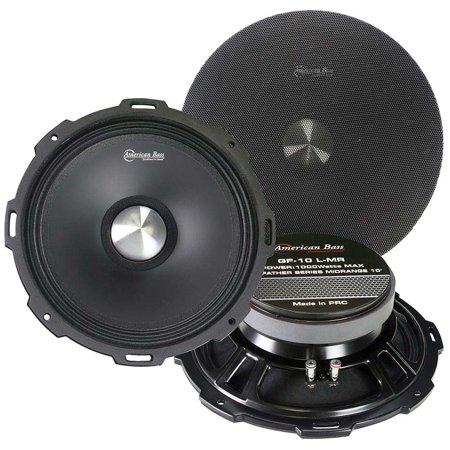 "American Bass 10"" Shallow Mid-Range 4 Ohm 1000 Watts Max"