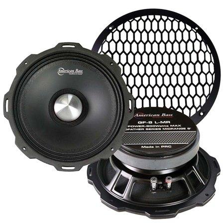 "American Bass 8"" Shallow Mid-Range 4 Ohm 800 Watts Max"