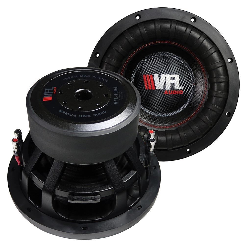 VFL 10″ Woofer 800W RMS/1600W Max Dual 4 Ohm Voice Coils