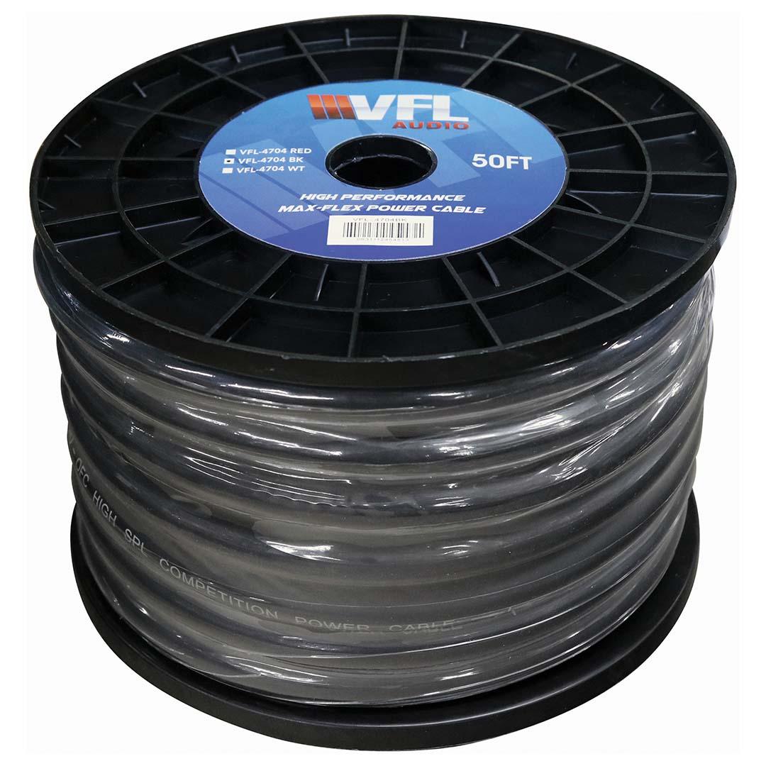 VFL Audio Power Wire 1/0 Gauge 50 Foot - Black