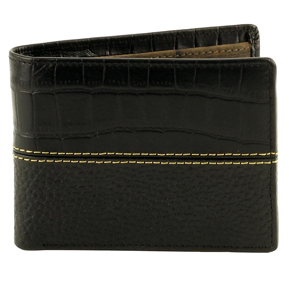 Bifold Rodeo Wallet Croc Print Black