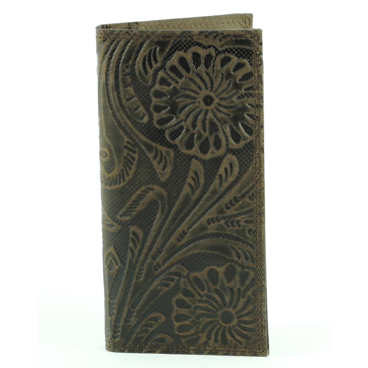 Tall Rodeo Wallet Fl Print Brown