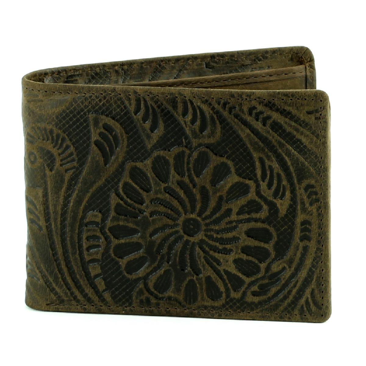 Bifold Rodeo Wallet Fl Print Brown