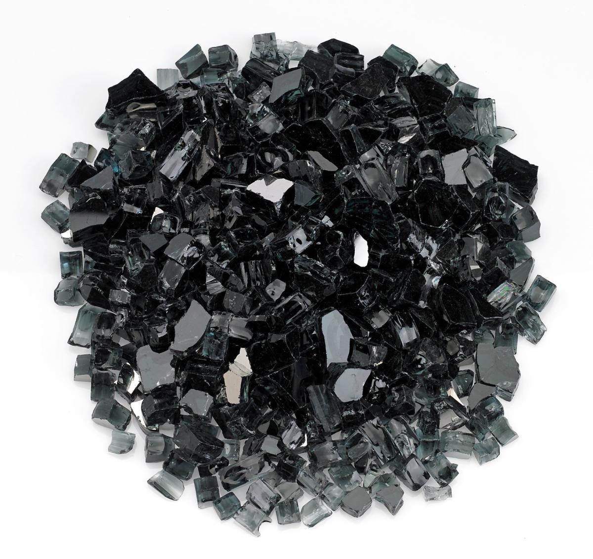 "1/2"" Black Reflective Fire Glass, 10 lb. Jar"