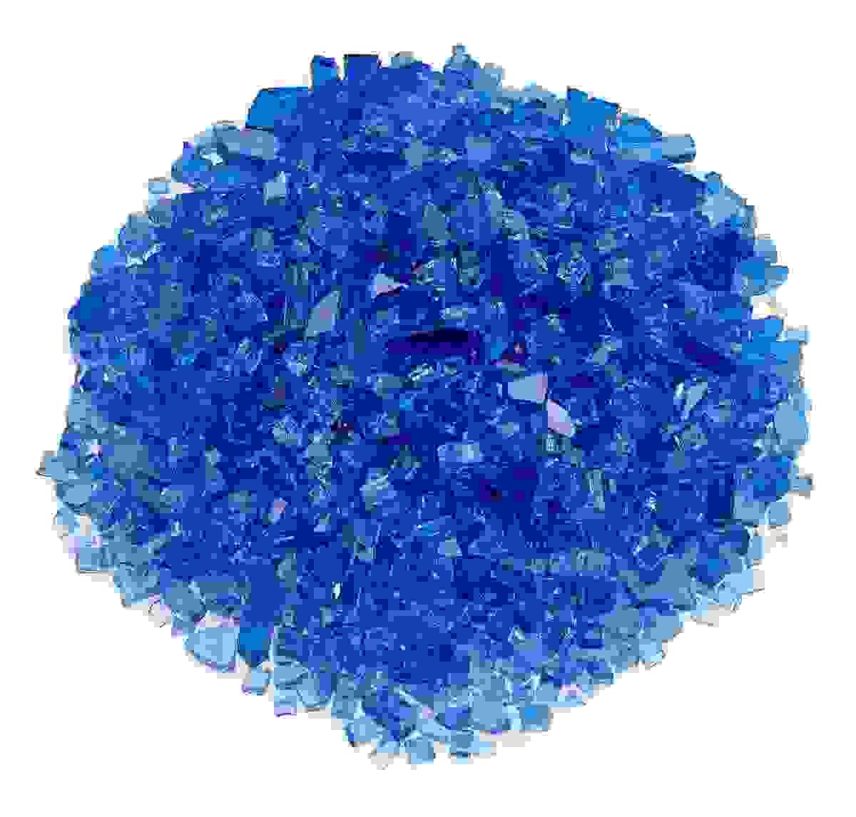 """1/4"""" Cobalt Blue Fire Glass, 10 lb. Jar"""