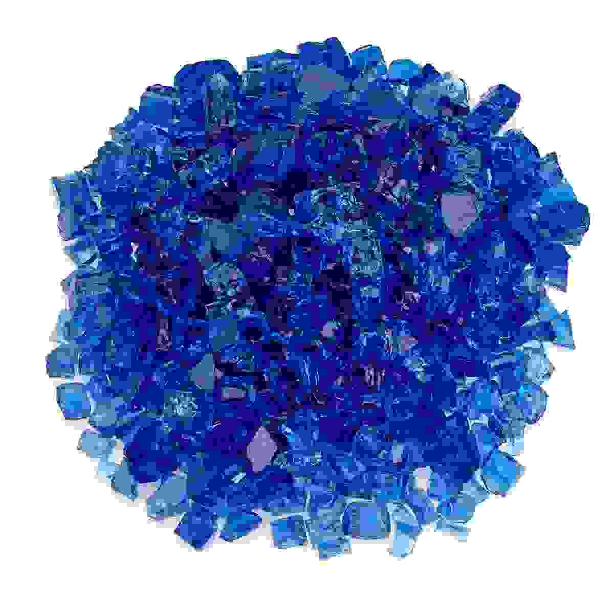 """1/2"""" Cobalt Blue Fire Glass, 10 lb. Jar"""