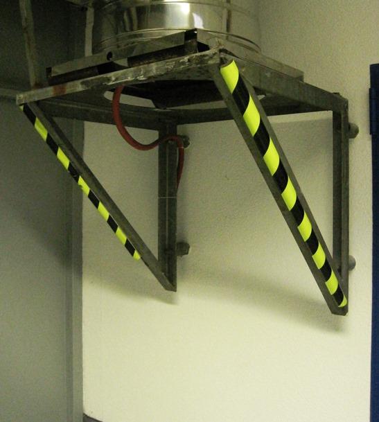 Type A Corner Protection Foam Guard - Black Fluorescent/Photoluminescent