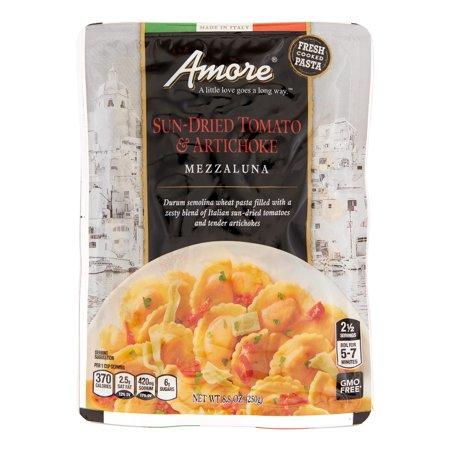 Amore Sun Dried Tomato And Artichoke Mezzaluna (6x88 OZ)