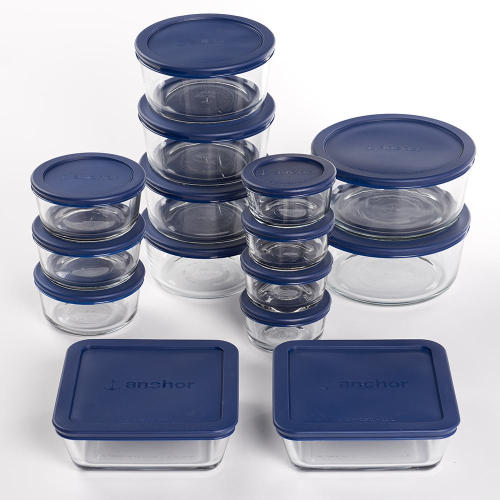 30 Pc. Food Storage Set w Navy