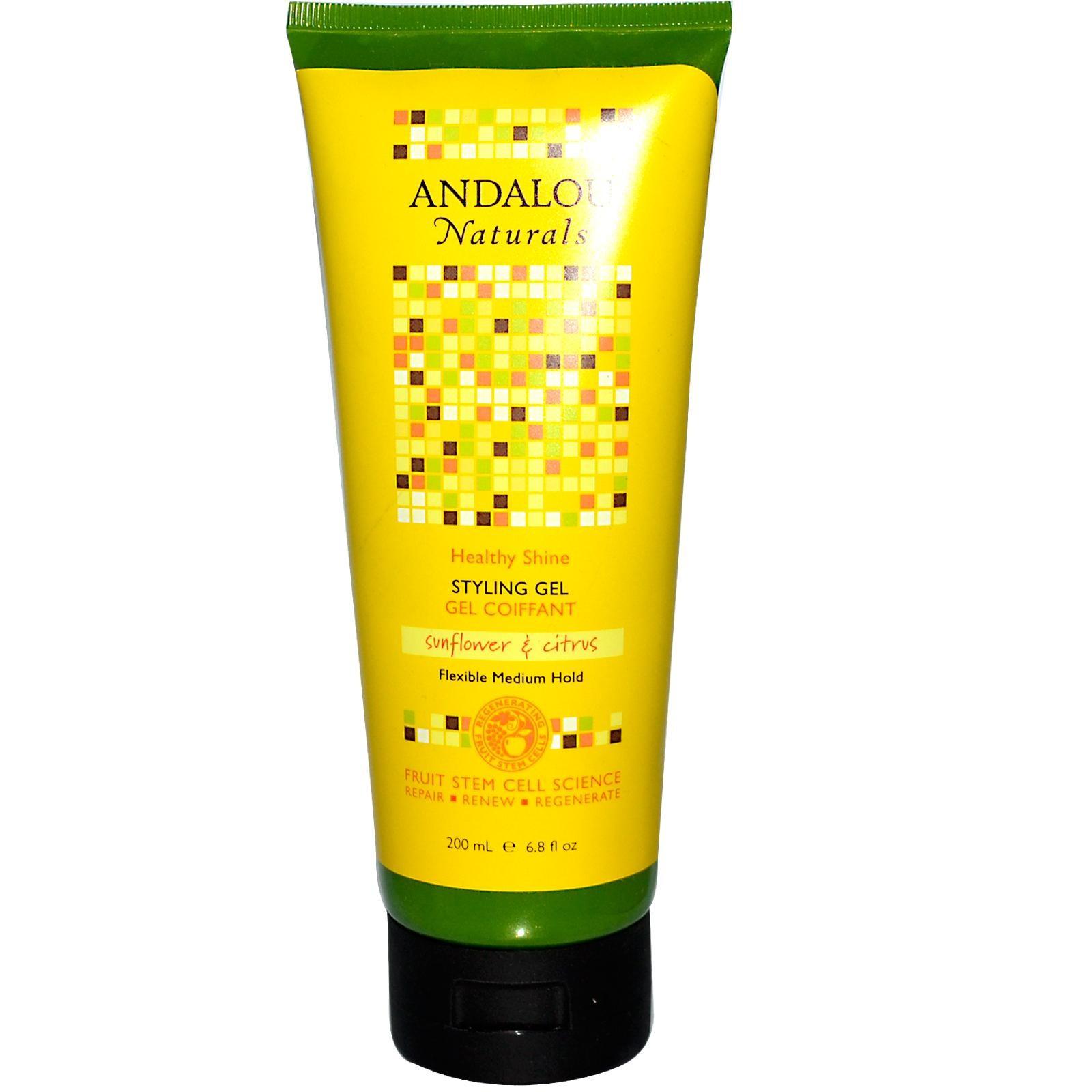 Andalou Naturals Healthy Shine Sunflower & Citrus Styling Gel (1x6.8 Oz)