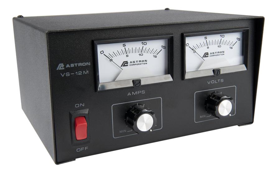 ADJUSTABLE 12 AMP, V/A METERS