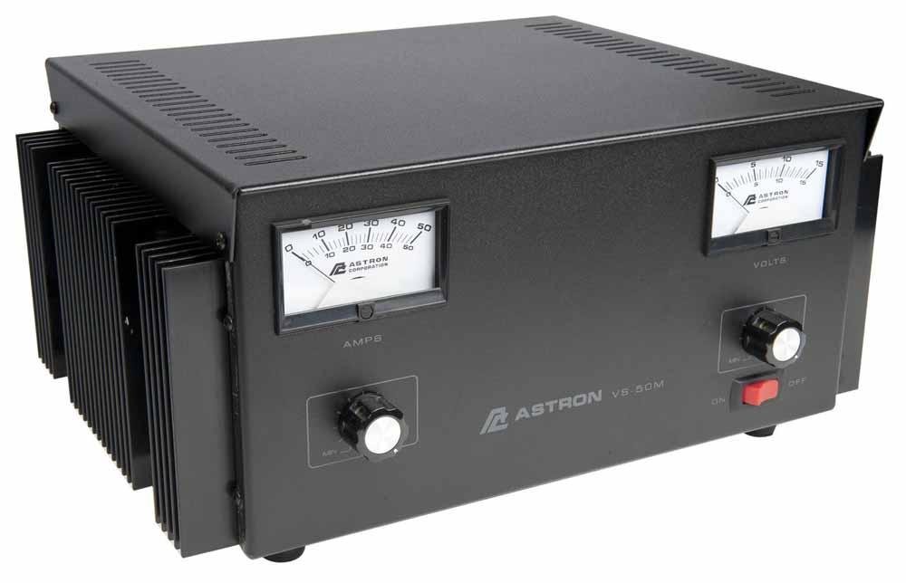 ADJUSTABLE 50 AMP, V/A METERS
