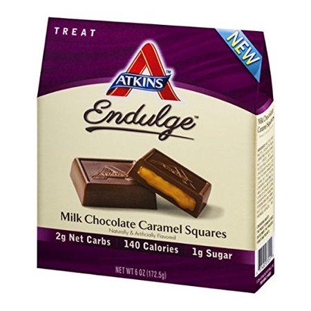 Atkins Endulge Pieces Milk Chocolate Caramel Squares 5 Oz
