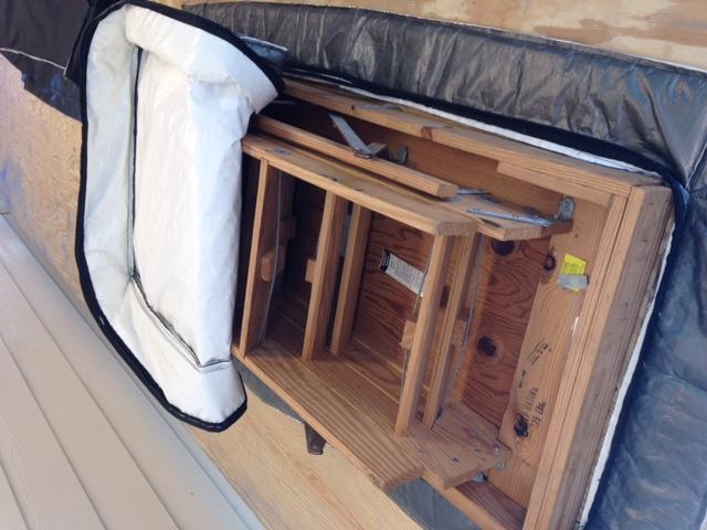 Attic Zipper- attic stairs airseal and insulator cover